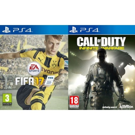 FIFA 2017 + CALL OF DUTY INFINITE WARFARE - PS4